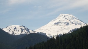 Mount Baker, on the right.